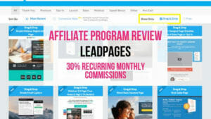 LeadPages Affiliate Marketing Program Review