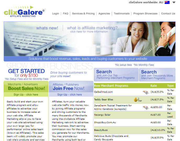 Clixgalore Affiliate Network
