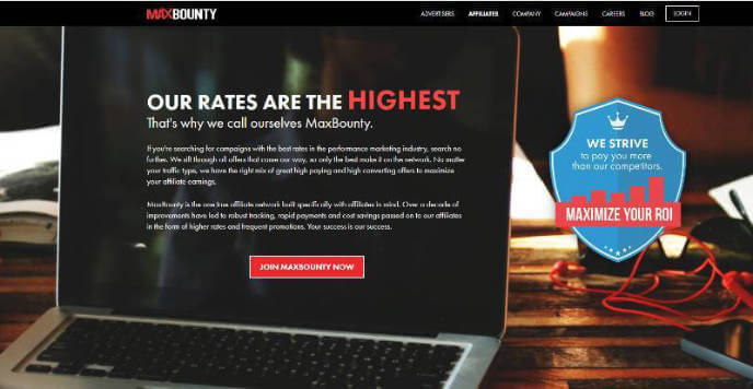 MaxBounty Affiliate Network - The Affiliate Network Directory